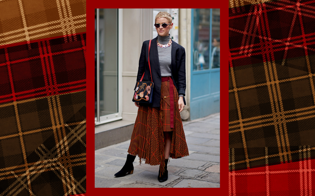 Skirts in tweeds, plaids and checks are a must-have for Autumn