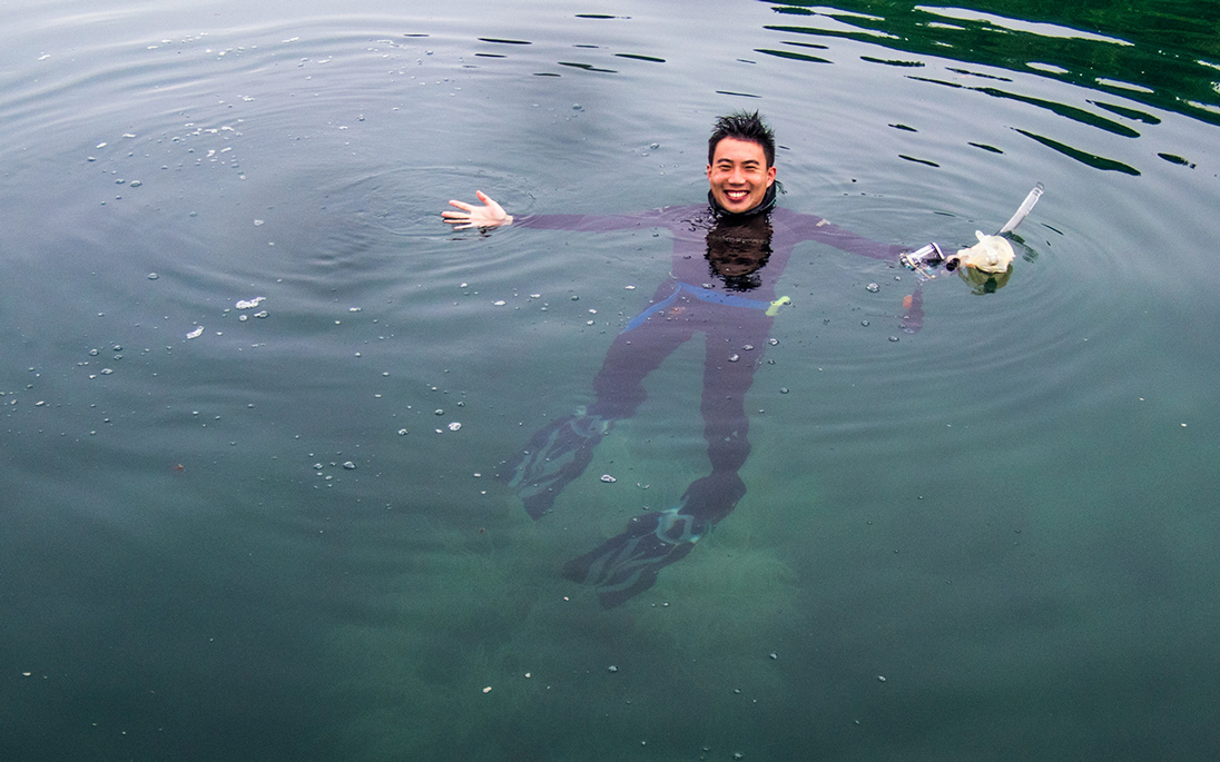 Dr To is a keen diver, and believes more people should explore Hong Kong's waters