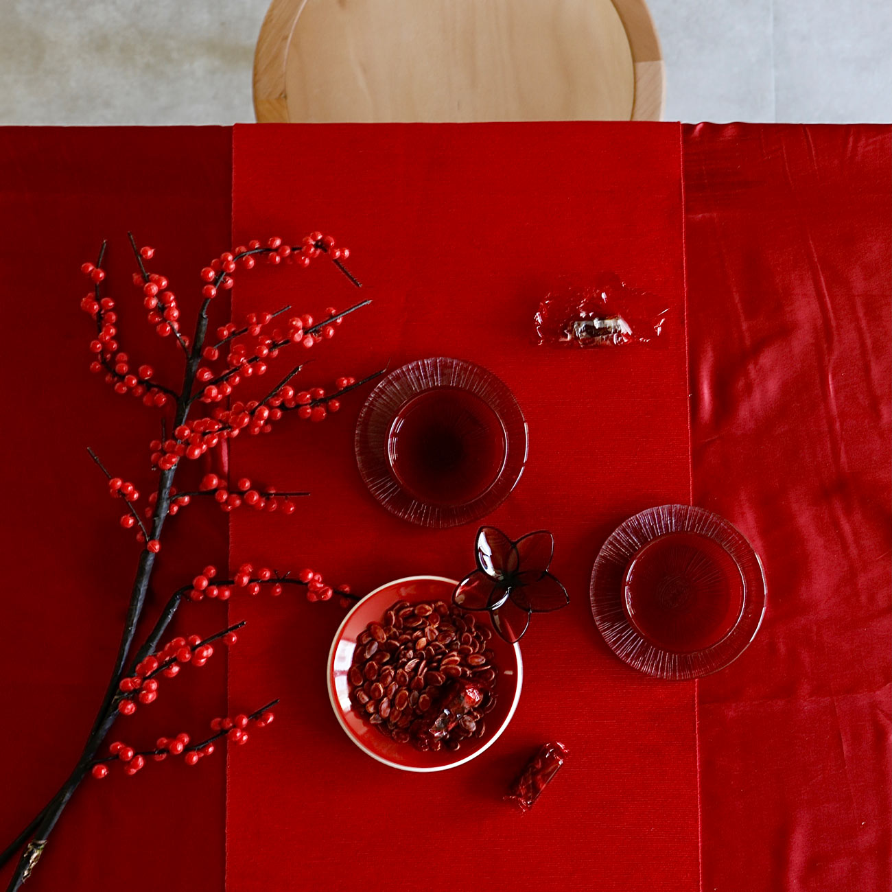 Chinese New Year table styling