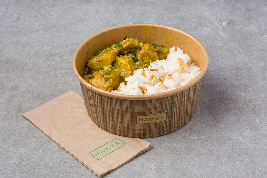 Chef Devon Yap's simple Coconut Curry Chicken, on the menu at HAWKR