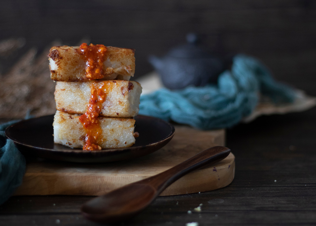 Traditional Chinese New Year turnip cake