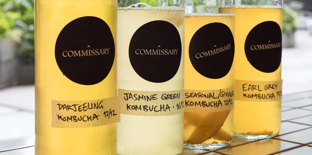 Commissary's kombucha is made in-house and can take nine days to ferment
