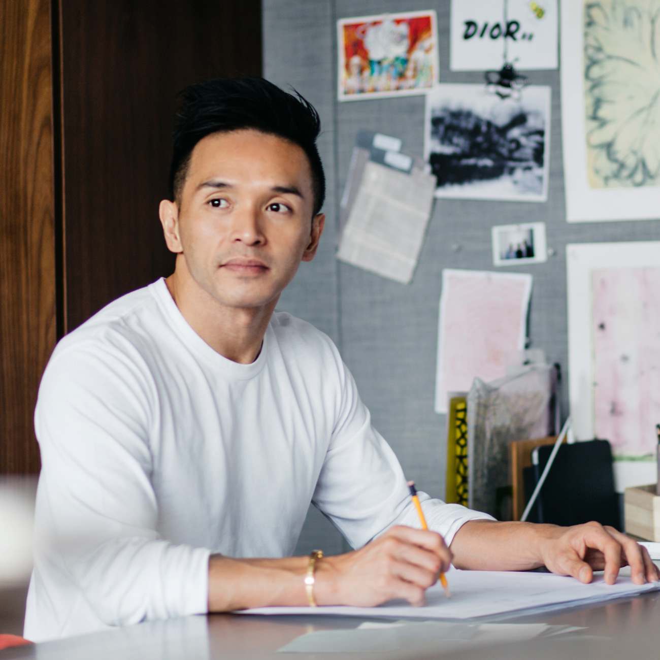 Designer Stanley KC in his Hong Kong office