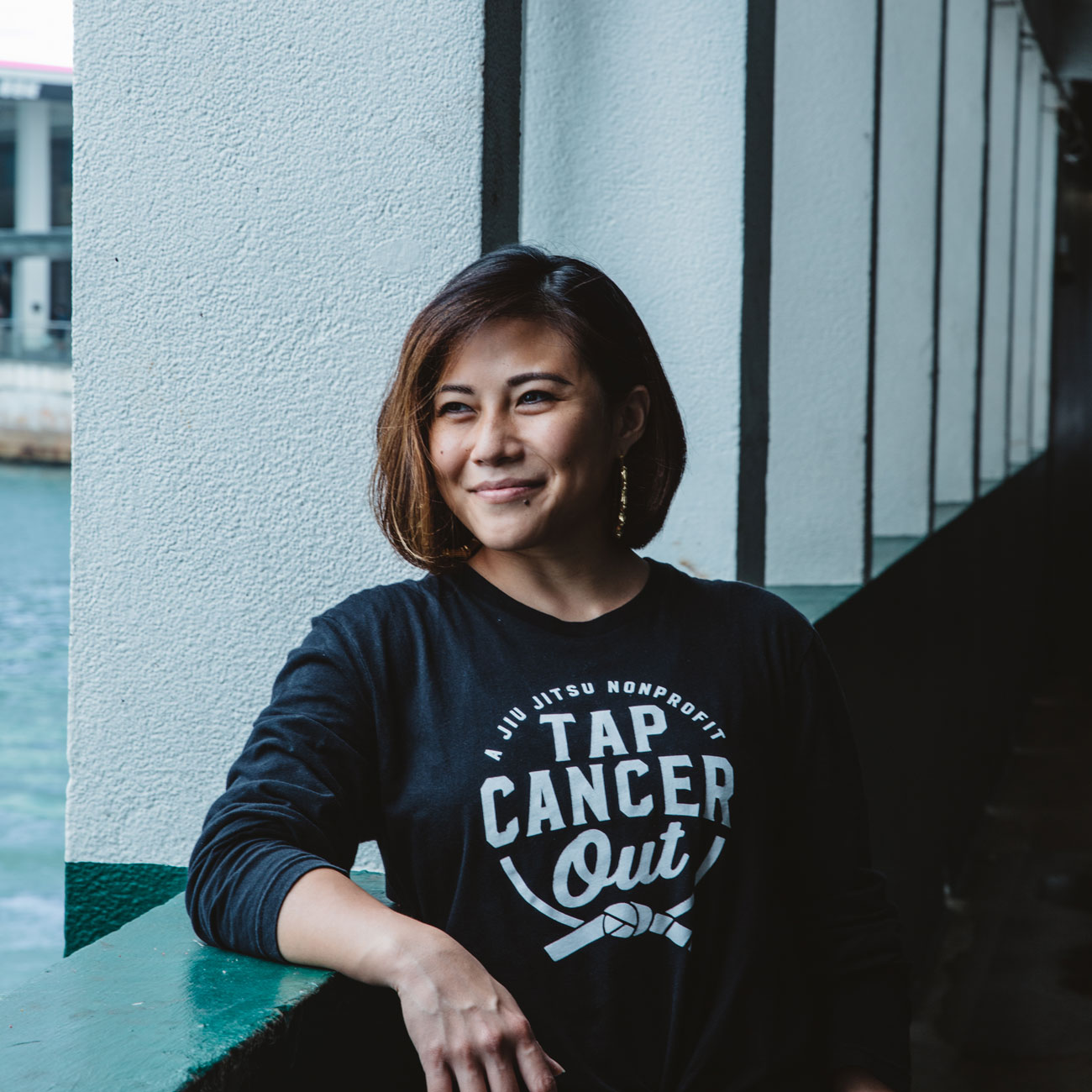 Podcaster, fitness coach and fitness performer, and cancer survivor Emily Tan