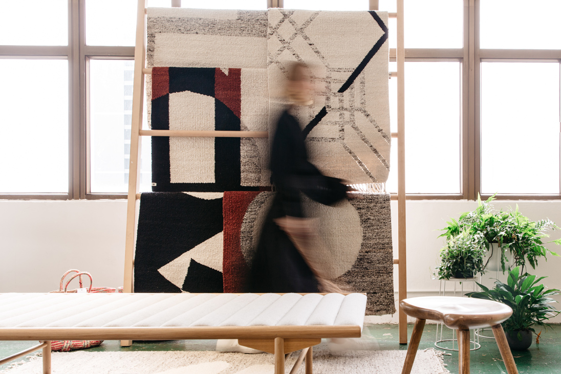 Kate's Wong Chuk Hang studio is also home to beautiful heirloom-quality rugs courtesy of her rug company Kahoko