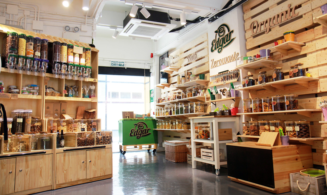Edgar's Star Street shop offers organic pantry goods as well as tools for embracing the zero-waste lifestyle