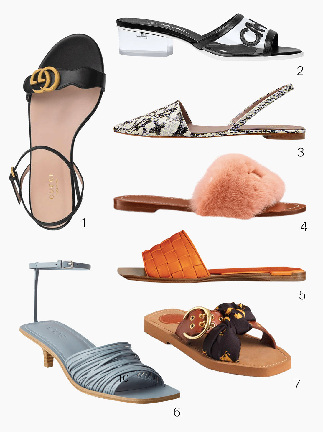 The Style Sheet's guest editor, fashion consultant Chloe Mak, curates the summer's best sandals