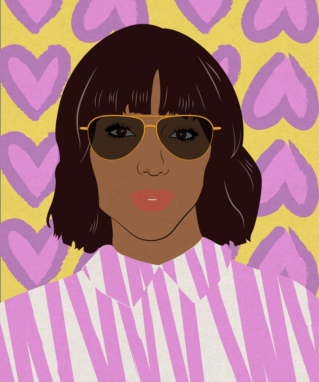 Heart-shaped face? Opt for wider-on-top frames and a bob that hits right below the jawline
