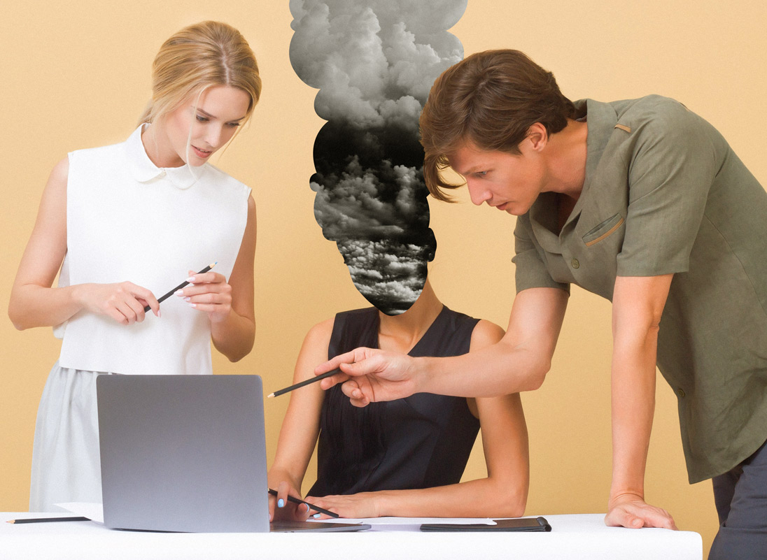 Much burnout happens at work