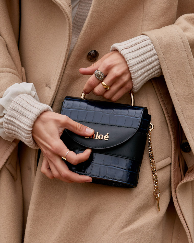 A classic-style investment handbag