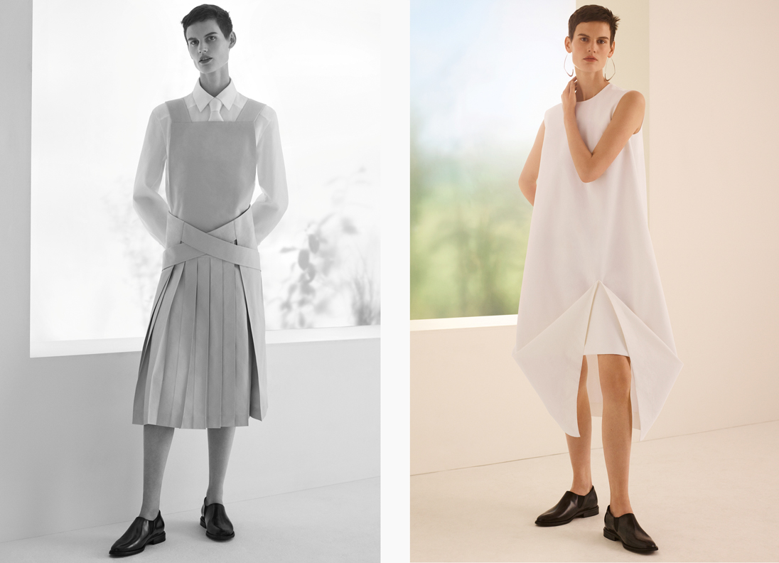 Swedish king of minimalism COS amped up its understated and architectural aesthetic for Spring Summer 2018