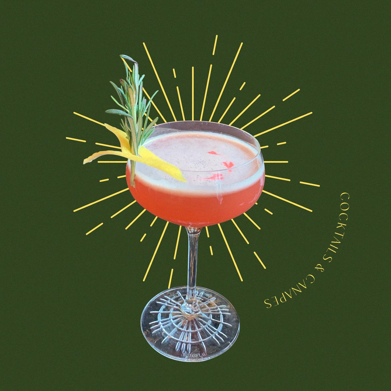 A festive cocktail
