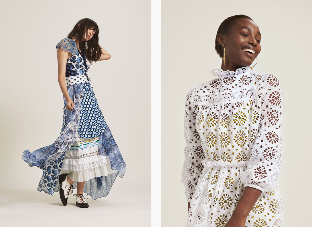 The latest collection from Diane von Furstenberg draws inspiration from the prairie dress trend