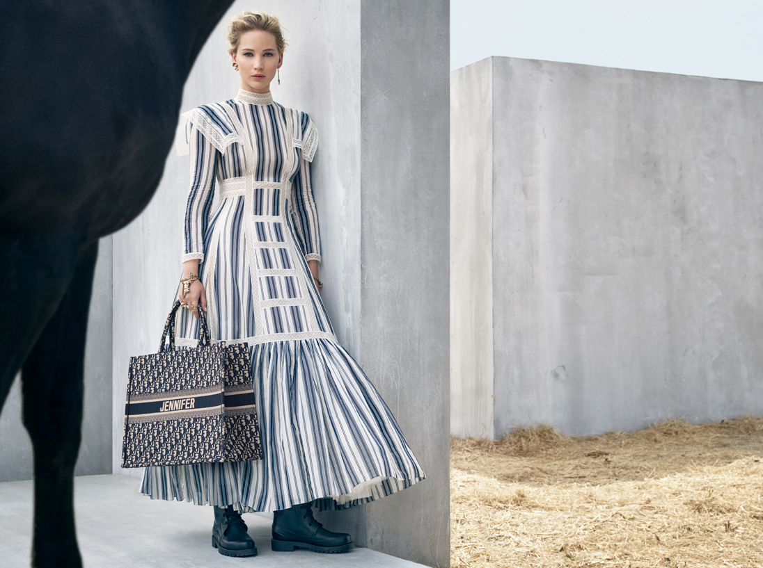 Dior's new-season looks cover the body almost entirely