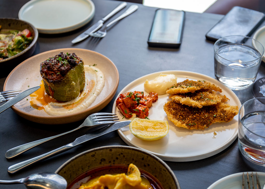 Foodie delights at Francis include Chicken Schnitzel with Za'atar and Aioli