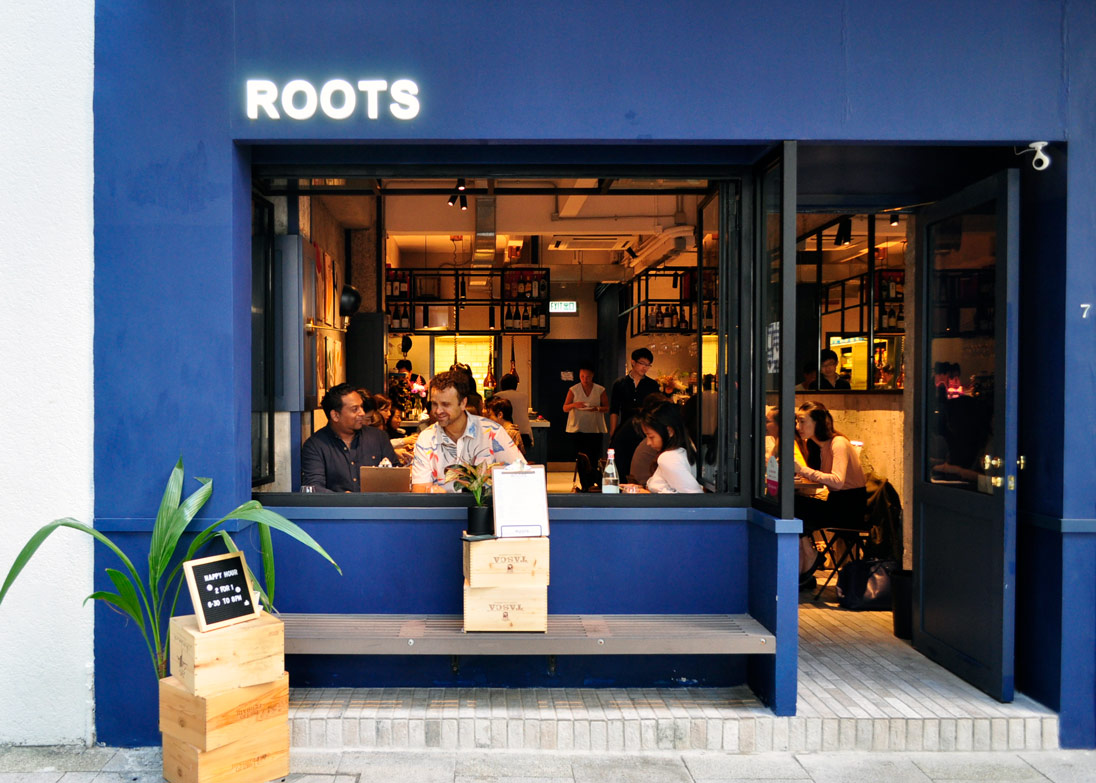 Cantonese-French fusion restaurant Roots in Wan Chai's Starstreet Precinct
