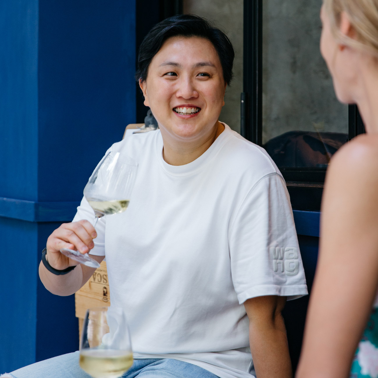 Roots Eatery chef and founder Stephanie Wong enjoys a Sunday conversation with Camille Lisette Glass