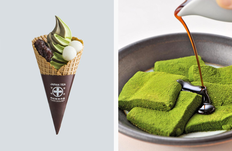Nakamura Tokichi's green tea-infused desserts, including soft-serve ice cream and mochi, are some of the city's best