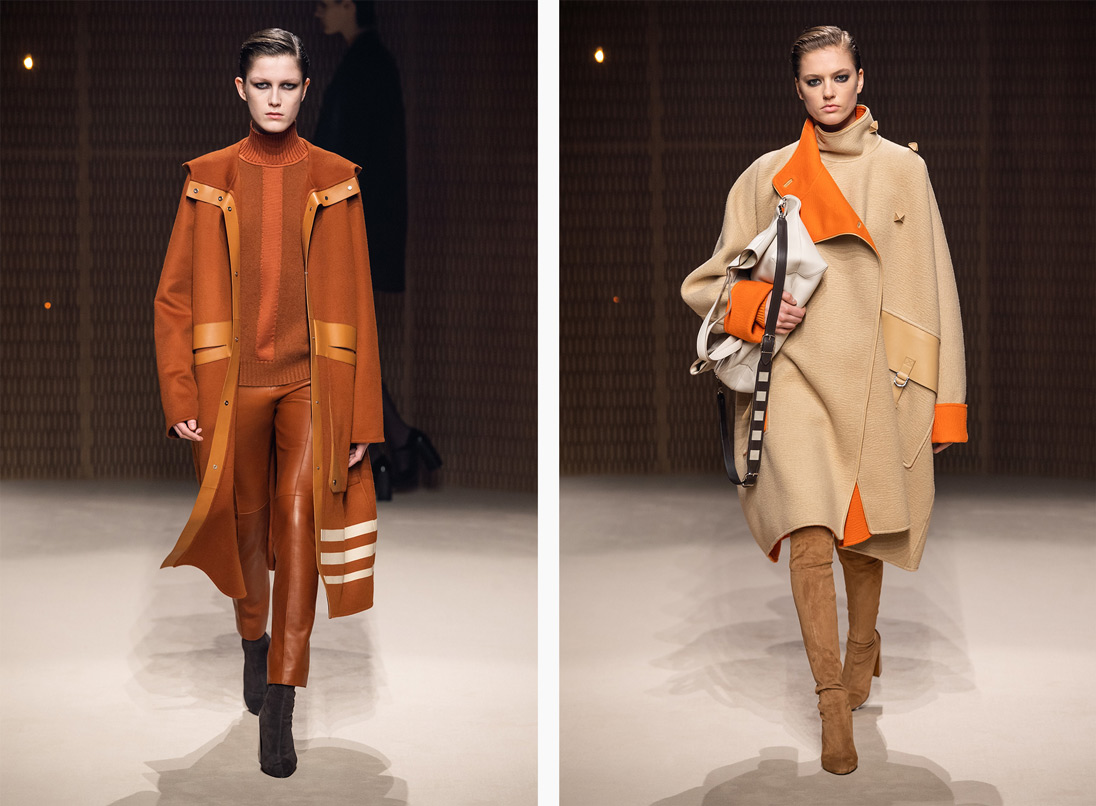 Hermès' wool-infused AW19 Collection. Images courtesy of Hermès