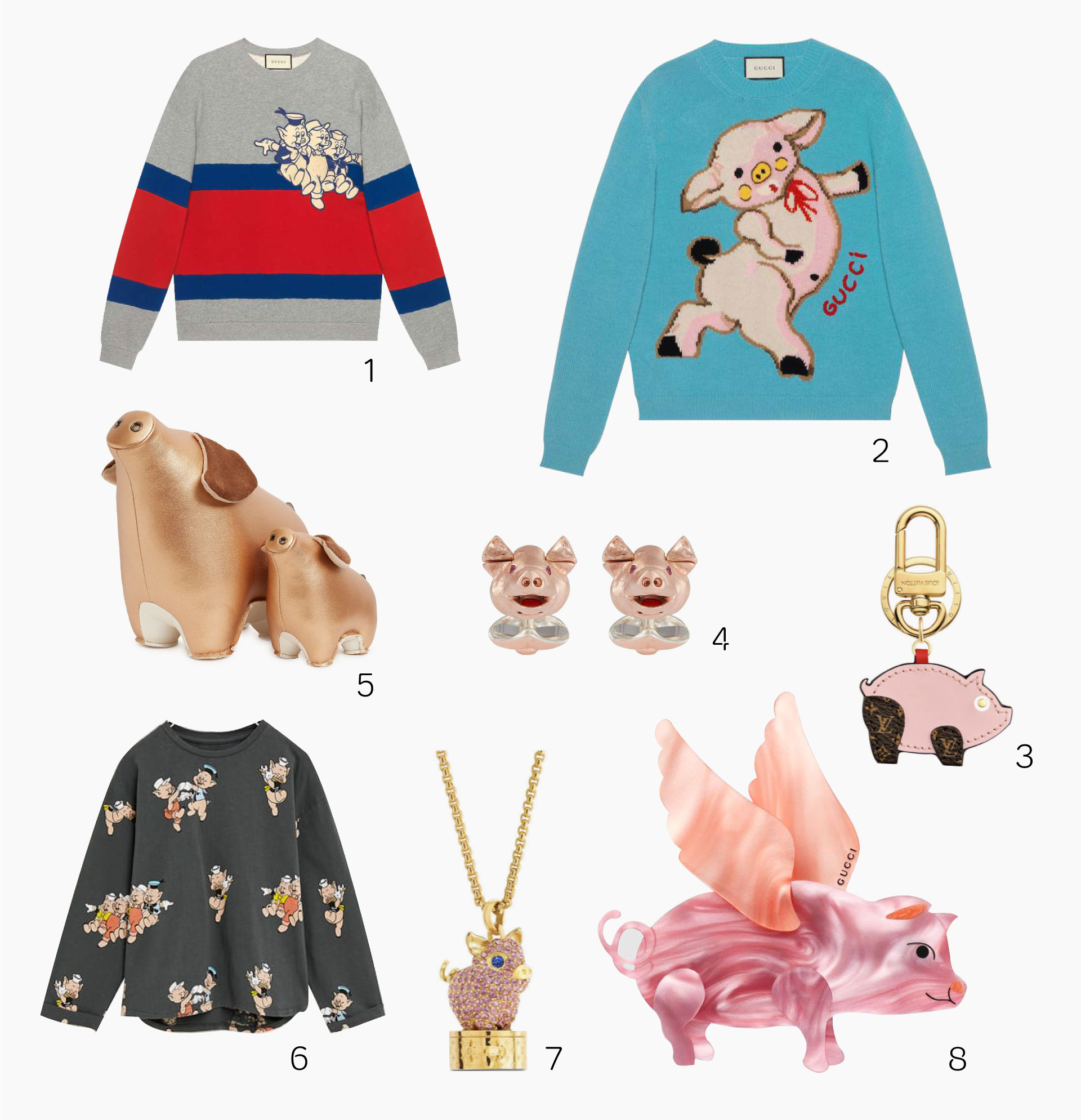 The best Year of the Pig-inspired fashion pieces currently available at Pacific Place